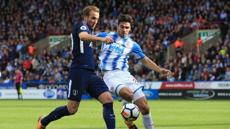 Harry Kane scored twice in Spurs's victory at Huddersfield