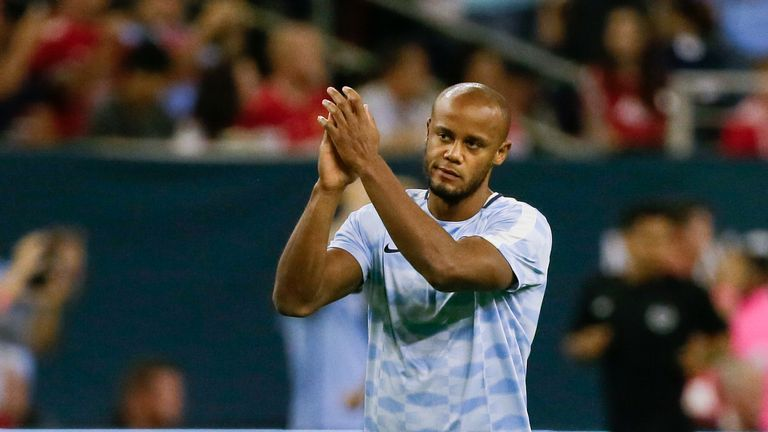 Vincent Kompany could be back in action soon, says Pep Guardiola