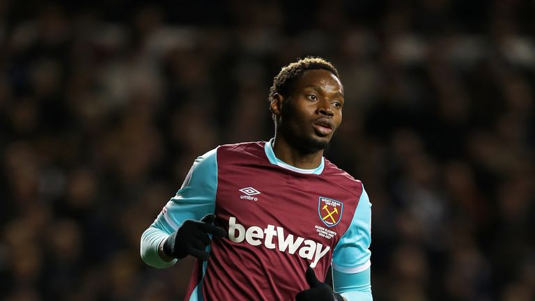 Diafra Sakho has had to continue his career with West Ham and could play against Huddersfield on Monday