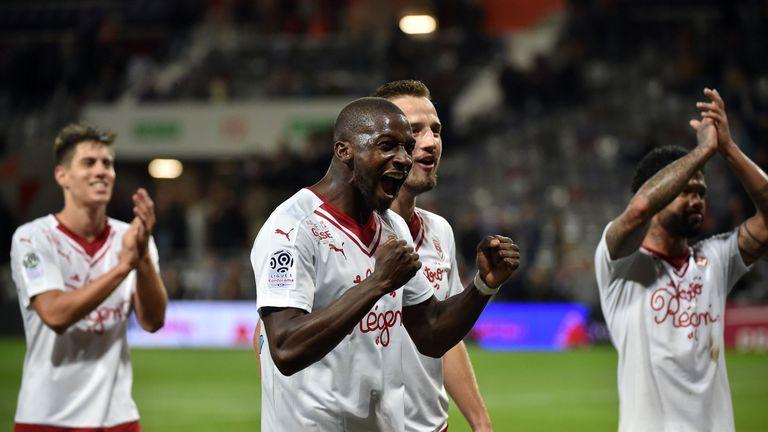 Younousse Sankhare celebrates Bordeaux's win