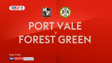 Port Vale 1-1 Forest Green