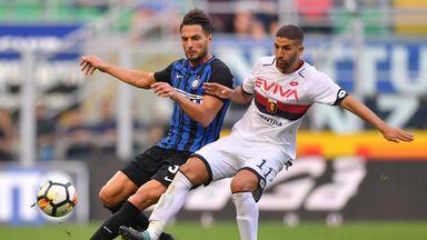 Adel Taarabt was sent off in injury-time against Inter Milan