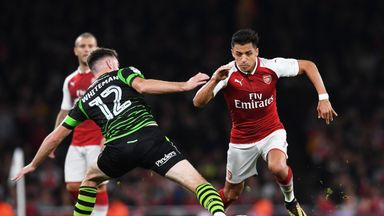 Alexis Sanchez completed 90 minutes as Arsenal beat Doncaster in the Carabao Cup on Wednesday night