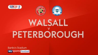 Walsall 1-1 Peterborough