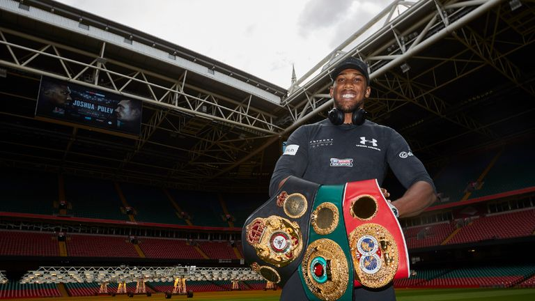 Anthony Joshua and Kubrat Pulev Press conference for their World Heavyweight title fight at the Principality Stadium in Cardiff on Saturday October 28, liv