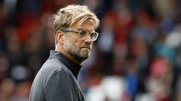 File photo dated 19-08-2017 of Liverpool manager Jurgen Klopp