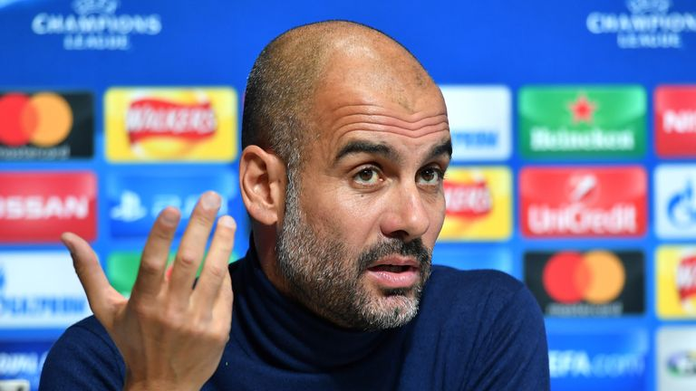 Manchester City manager Pep Guardiola during the press conference at the CFA, Manchester