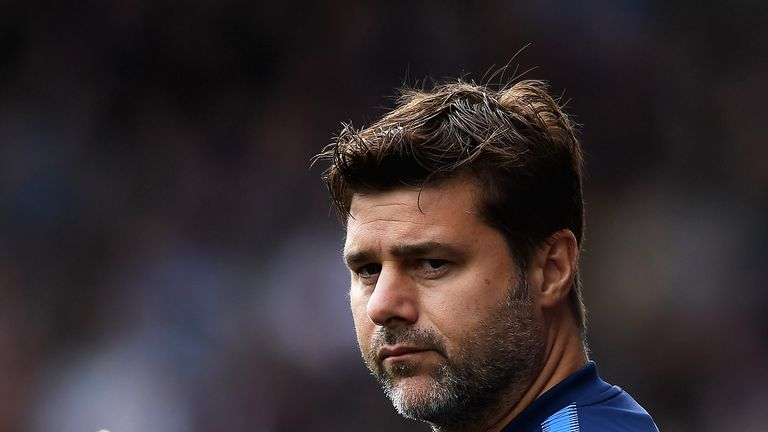 Mauricio Pochettino gives his team instructions during the Premier League match at the John Smith's Stadium