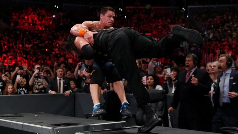 Reigns' spear through the table was the game changing moment in the match.