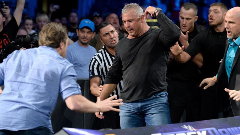 Shane McMahon had to be prised of Kevin Owens by officials, WWE producers and Smackdown general manager Daniel Bryan.