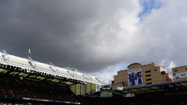 LONDON, ENGLAND - SEPTEMBER 17: General view inside the stadium during the Premier League match between Chelsea and Arsenal at Stamford Bridge on September