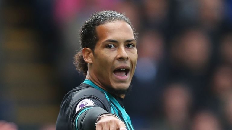 LONDON, ENGLAND - SEPTEMBER 16: Virgil van Dijk of Southampton looks on during the Premier League match between Crystal Palace and Southampton at Selhurst