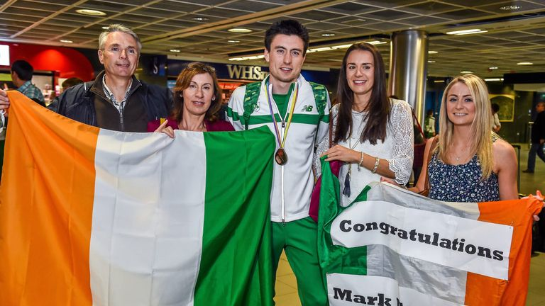 Mark English won his first senior medal at the 2014 Euros in front of a very excited family