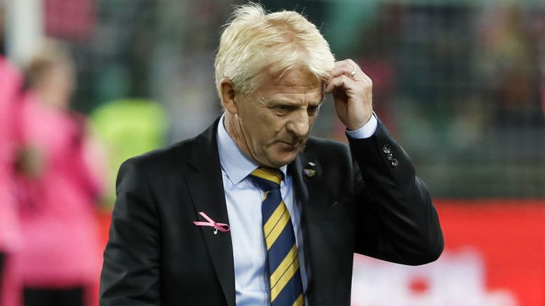 Gordon Strachan left his role as Scotland manager on Thursday