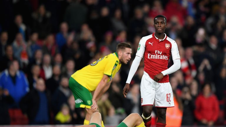 Eddie Nketiah was Arsenal's two-goal hero in the Carabao Cup win over Norwich