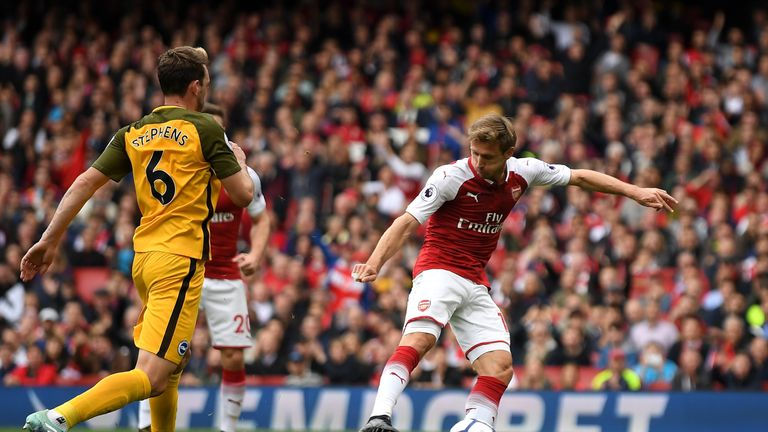 Brighton's only trip to a top-six side this season ended in defeat at Arsenal