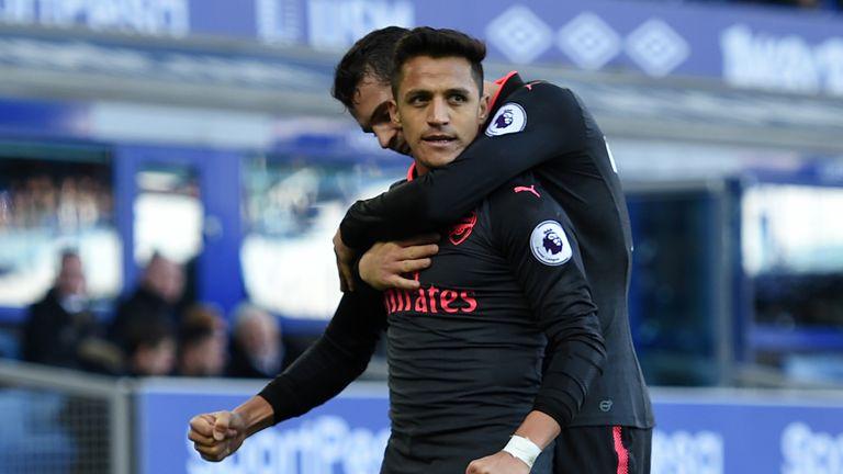 Alexis Sanchez completed Arsenal's Goodison Park goal-fest