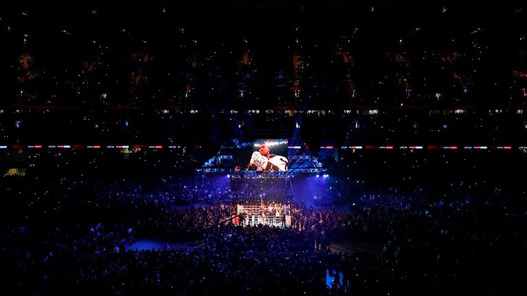 Joshua fought Takam in front of nearly 80,000 people at Cardiff's Principality Stadium