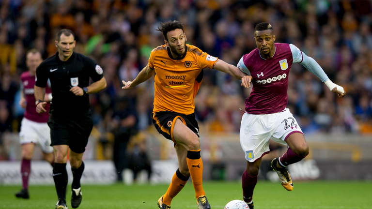 Jonathan Kodjia could not prevent Villa's 2-0 defeat at Wolves