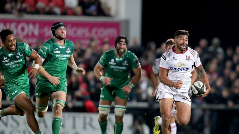 Charles Piutau has scored ten tries so far for Ulster Rugby