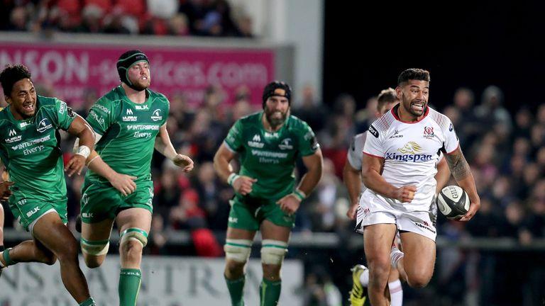 Charles Piutau has scored ten tries so far for Ulster Rugby