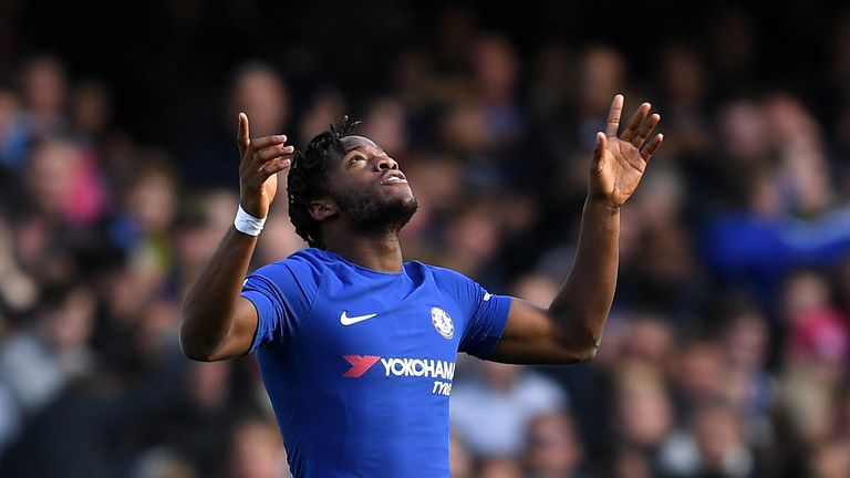 Michy Batshuayi was in Checktrade action for Chelsea on Wednesday