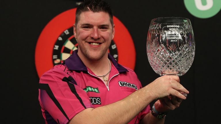 Daryl Gurney claimed his maiden TV title at the 2017 World Grand Prix