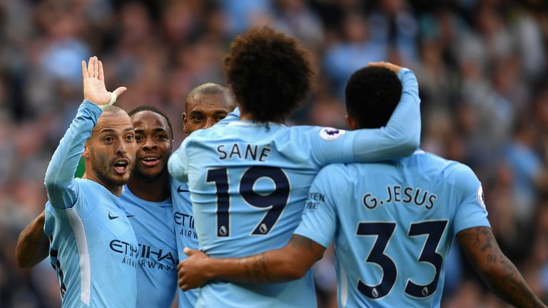 Man City captain David Silva scored the third goal of the afternoon