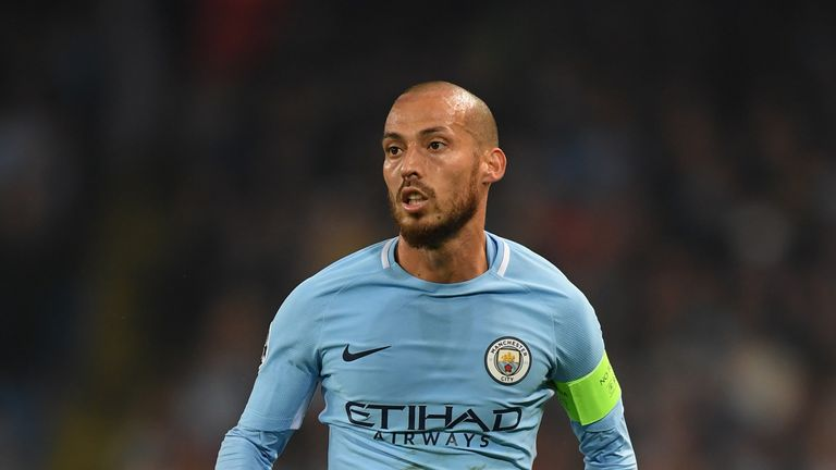 David Silva is a doubt for Manchester City ahead of Sunday's derby with United