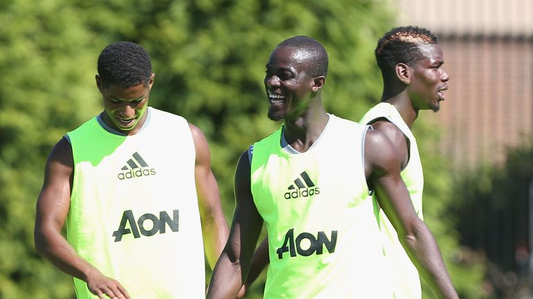 Marcus Rashford (L) and Eric Bailly (R) picked up injuries while away on international duty