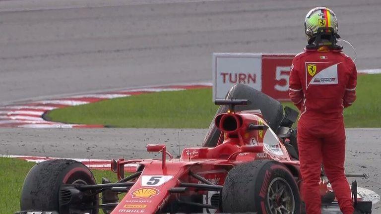 Ferrari's Raikkonen retires from Malaysian GP