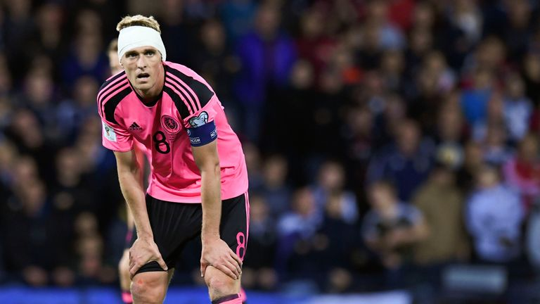 Darren Fletcher skippered Scotland in their crucial 1-0 win over Slovakia