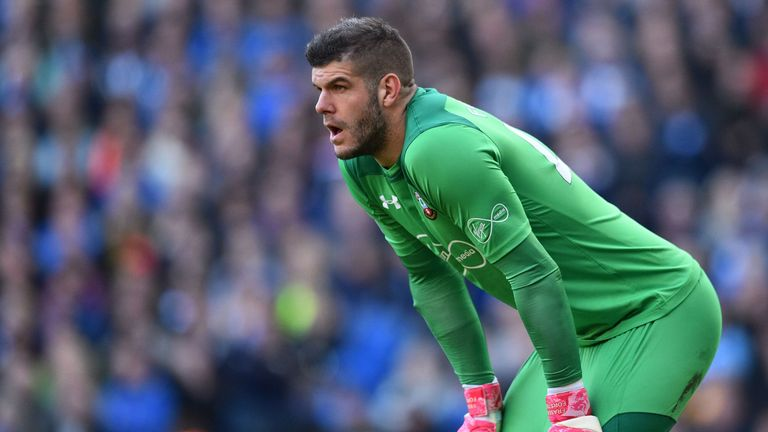Fraser Forster was beaten at his near post by Glenn Murray's header