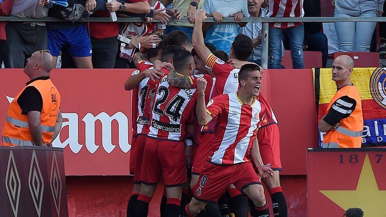 Cristhian Stuani scored in Girona's 2-0 win against Deportivo La Coruna