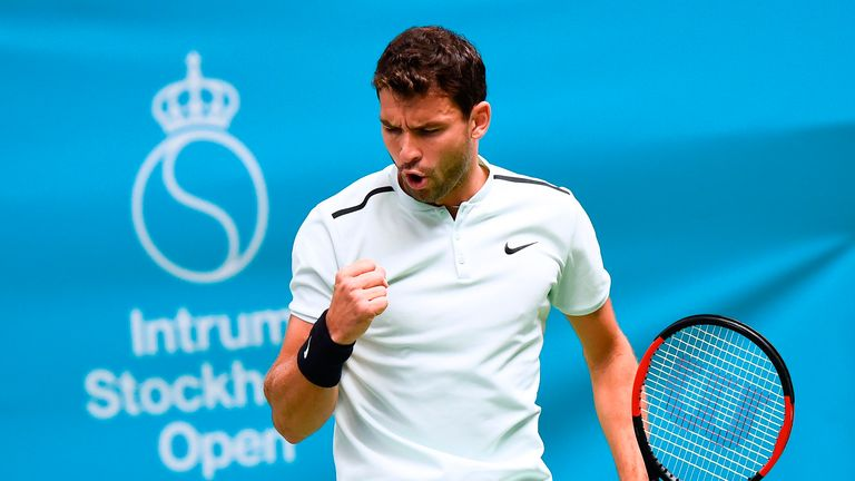 Dimitrov sets up Del Potro final as London spot edges closer