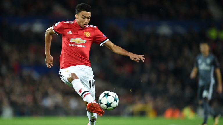 Jesse Lingard was taken off at half-time against Benfica with a back injury