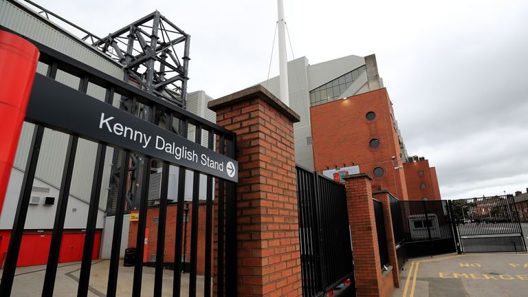 The newly renamed Kenny Dalglish Stand at Anfield