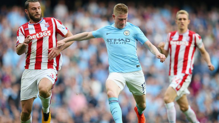 Kevin De Bruyne was Man City's standout performer in their 7-2 win against Stoke