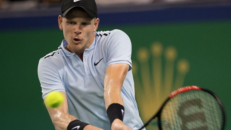 Kyle Edmund was unable to cause an upset against Marin Cilic