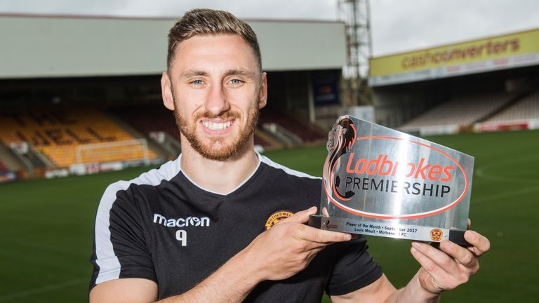 Louis Moult receives the Ladbrokes Premiership Player of the Month for September. He's scored nine goals so far this season