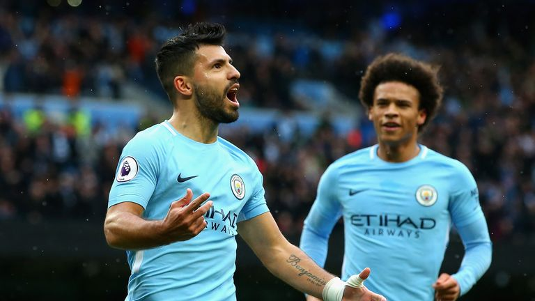 Sergio Aguero will be looking to extend his record goals tally for City against Newcastle on December 27, live on Sky Sports