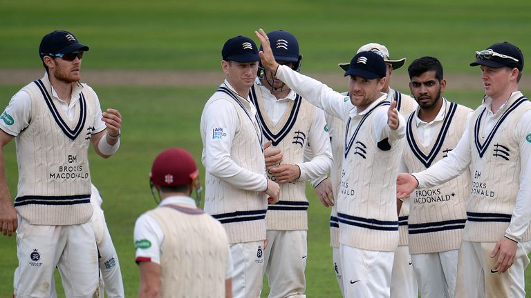 Middlesex's players are waiting to find out if their relegation will be confirmed