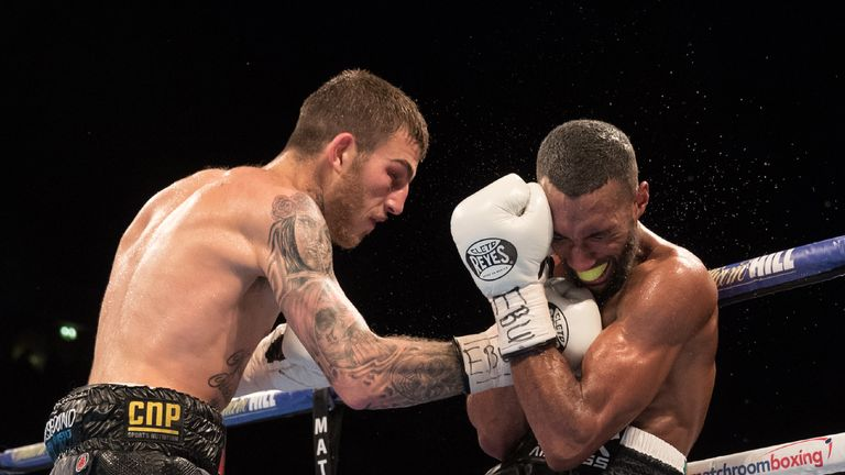 Eggington lands a right hand