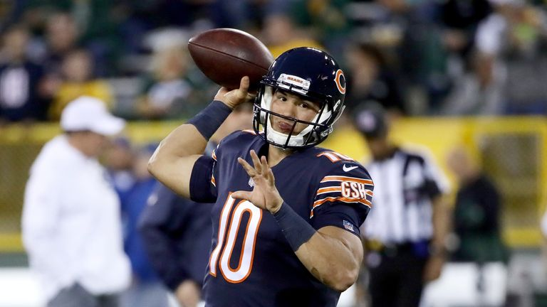 Mitchell Trubisky played well in defeat for Chicago against Green Bay