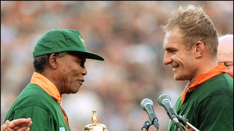 South Africa won the 1995 Rugby World Cup on home soil