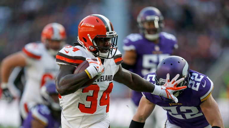 Isaiah Crowell scored 21 touchdowns in four seasons with the Cleveland Browns