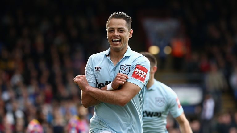 Javier Hernandez is currently West Ham's top scorer in the Premier League with four goals