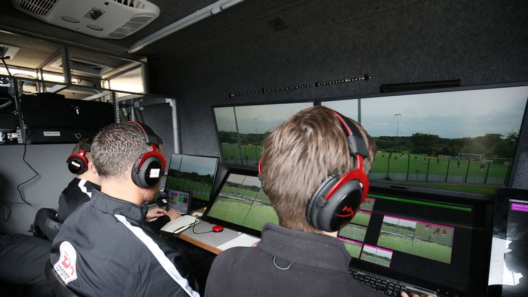 Premier League officials were put through VAR training last month