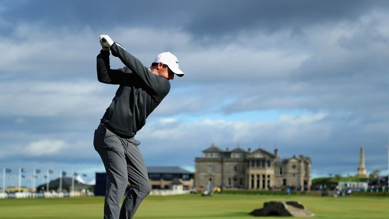 Rory McIlroy lies six strokes off the pace