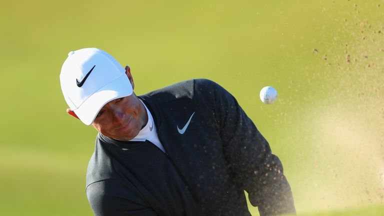 McIlroy got into bunker trouble on the second and made double-bogey